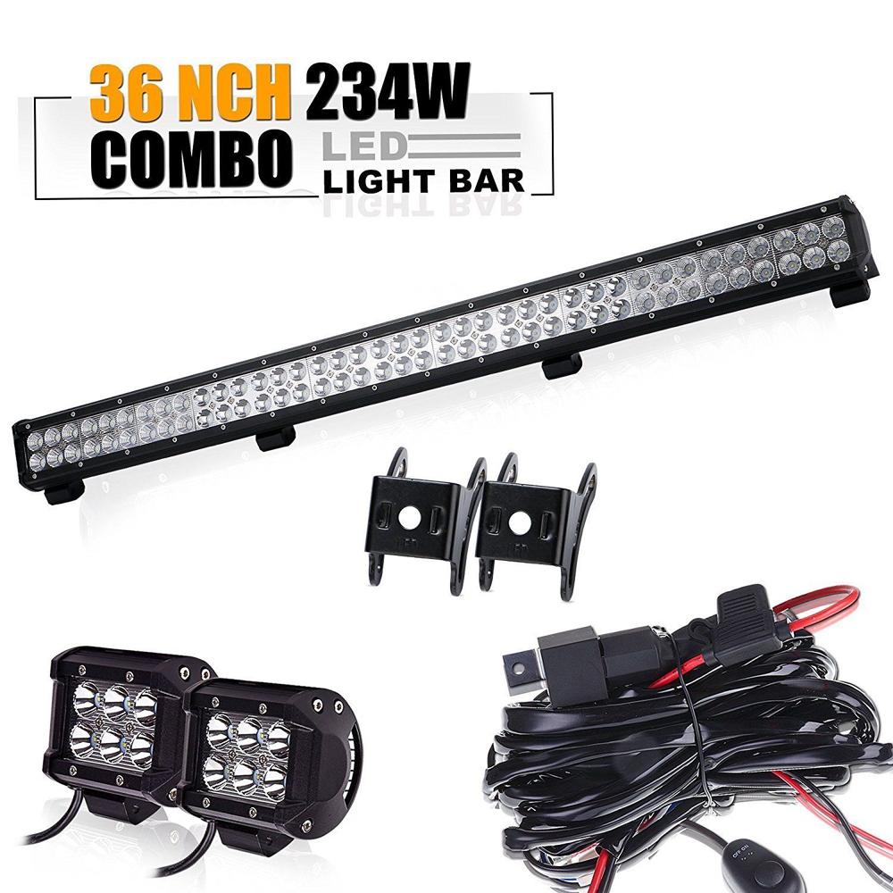 medium resolution of 36 land rover defender led light bar set 2pc 4 led work light with wiring kit