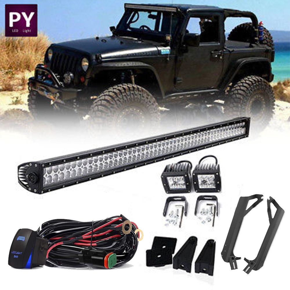 medium resolution of details about 50 windshield led light bar wiring harness 3x3 light pods for jeep wrangler tj