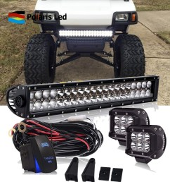 details about 22 inch led light bar combo kit 2x 4 pods wiring for yamaha ez go club car [ 1000 x 1000 Pixel ]