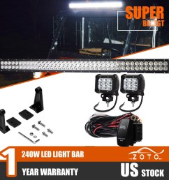 details about fit kubota rtv x900 x1100c x1120d 42 led light bar auxiliary lamps off road 40  [ 1500 x 1500 Pixel ]