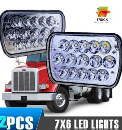 2x7x6 led headlight upgrade for ford super duty truck f550 f600 f650 f700 f750 [ 1000 x 1000 Pixel ]
