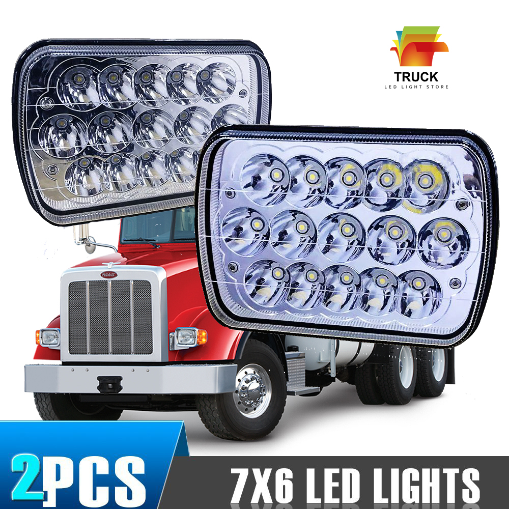 hight resolution of 2x7x6 led headlight upgrade for ford super duty truck f550 f600 f650 f700 f750