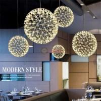 Modern LED Suspension Light Spherical Pendant Lamp Ceiling ...