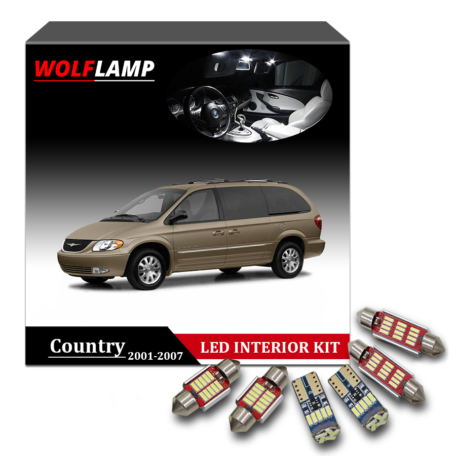 medium resolution of 15pcs white led interior car lights for 2001 2007 chrysler town country map light door dome lamp trunk bulb