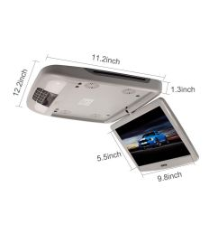 details about 12 inch car flip down roof mounted fm dvd player monitor vedio usb sd slot 12v [ 1001 x 1001 Pixel ]