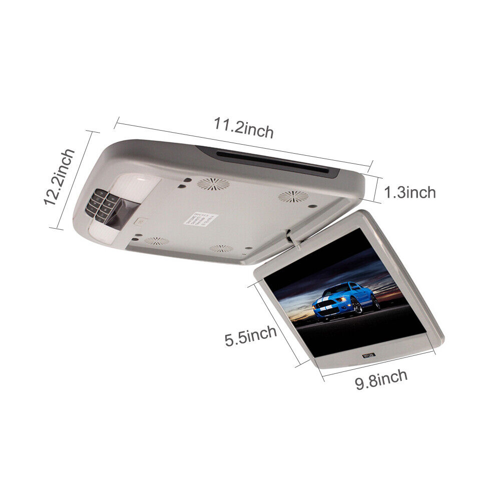 hight resolution of details about 12 inch car flip down roof mounted fm dvd player monitor vedio usb sd slot 12v