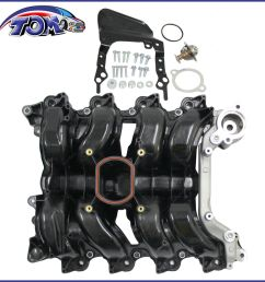 details about new intake manifold w thermostat gaskets kit for ford lincoln mercury 4 6l v8 [ 1296 x 1296 Pixel ]