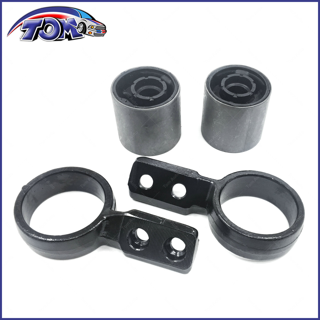 hight resolution of details about new set of 4 control arm bushing retainer bracket for bmw e46 325xi 330xi