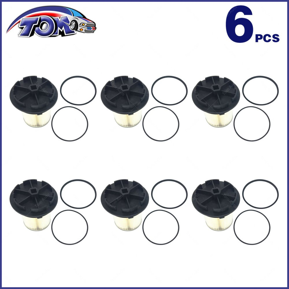 medium resolution of 6 fuel filters caps for 94 98 ford f e series super duty 7 3l turbo diesel