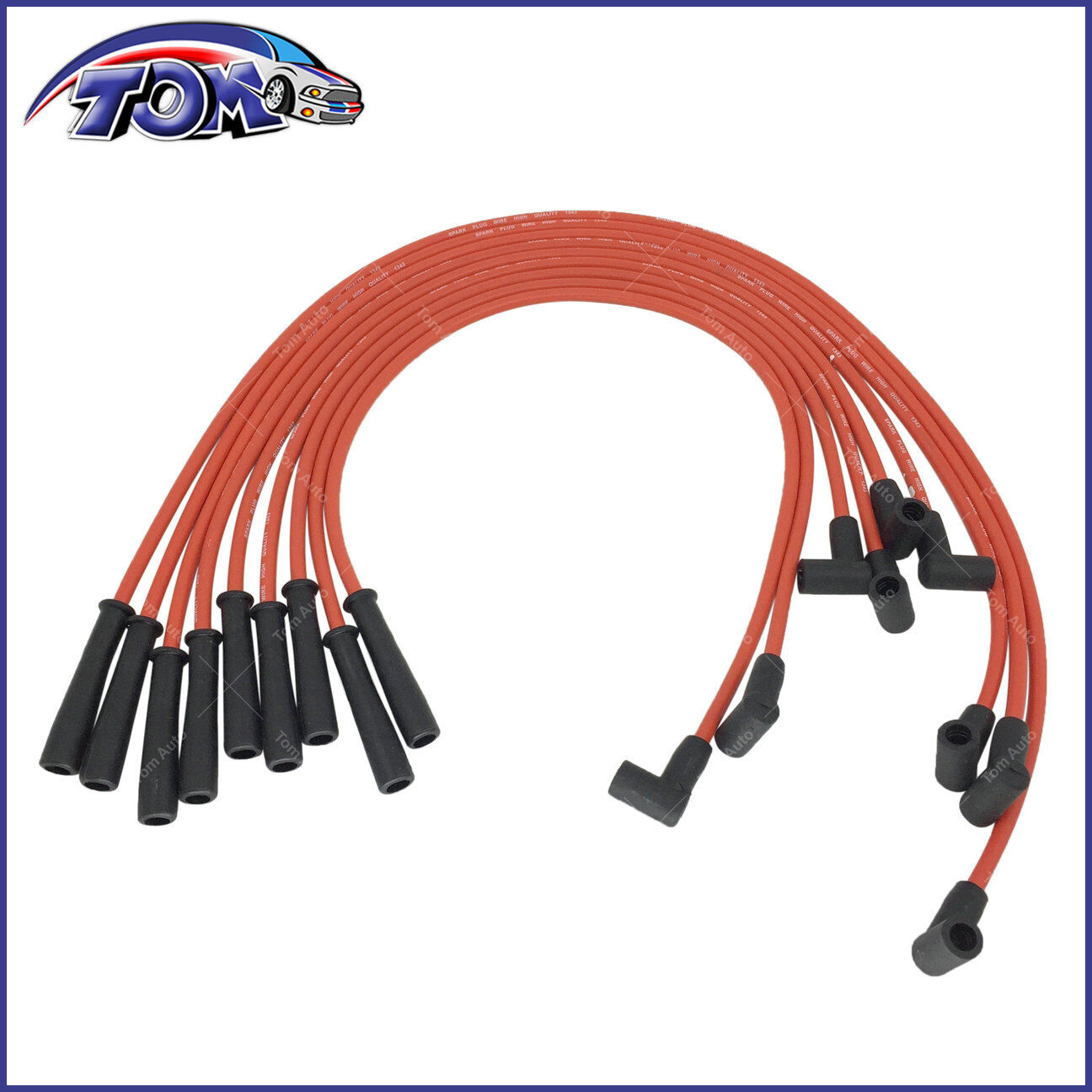 hight resolution of new spark plug wires for bbc big block chevy 454 hei str over valve cover 9875m