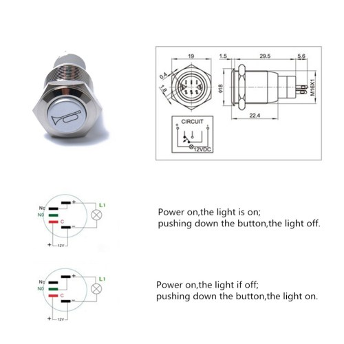 small resolution of 16mm 12v blue light momentary push switch button for car motorcycle horns