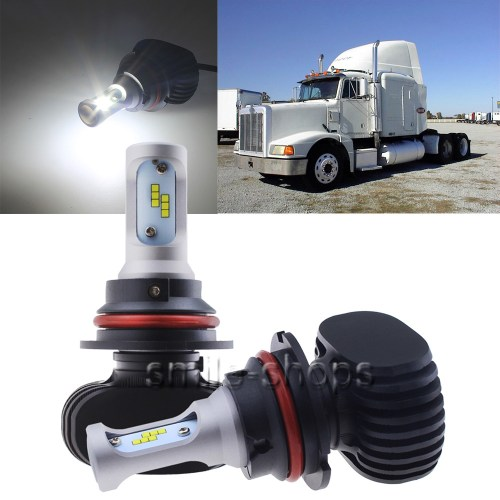 small resolution of for peterbilt 377 385 led headlight conversion kit 9007 hb5 50w hid white bulbs