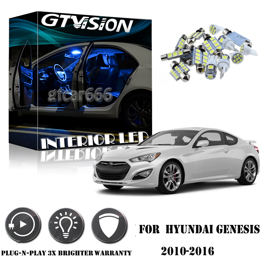hight resolution of details about 8pcs blue interior led lights package kit for 2010 2016 hyundai genesis coupe