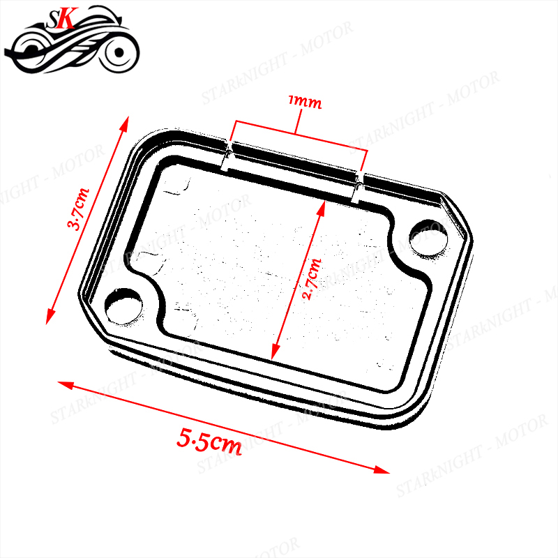 Motorcycle Parts Front Brake Reservoir Fluid Tank Cover