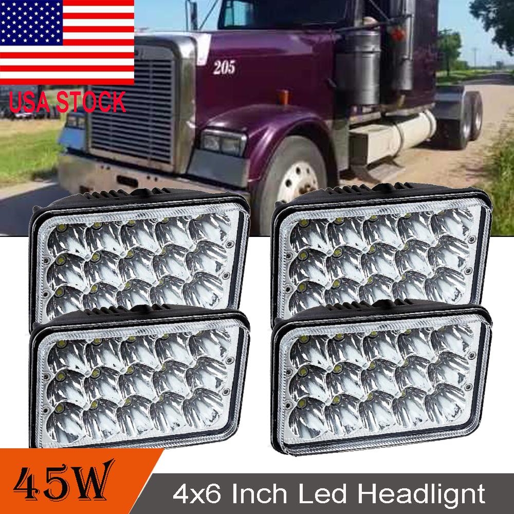 hight resolution of projector led headlights for kenworth t400 t600 t800 w900l w900b classic 120 132
