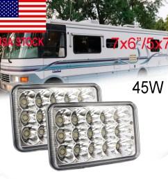 7x6 inch led headlight hi lo sealed beam 93 99 national rv sea breeze motorhome [ 1000 x 1000 Pixel ]