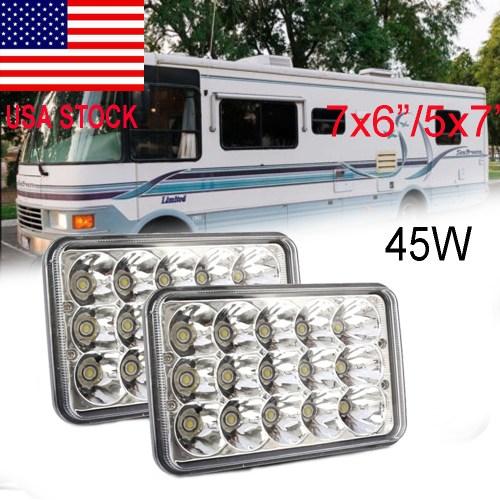 small resolution of 7x6 inch led headlight hi lo sealed beam 93 99 national rv sea breeze motorhome