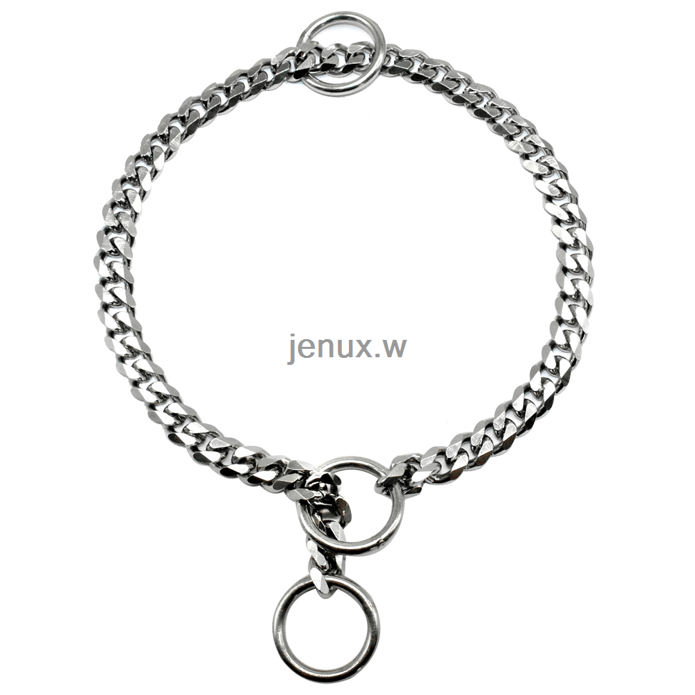 Gold Silver Dog Chain Choke Collar Stainless Steel Snake