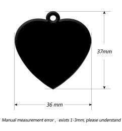 100pcs blank heart shape dog pet cat id tags engraved phone address tag aluminum [ 1000 x 1000 Pixel ]