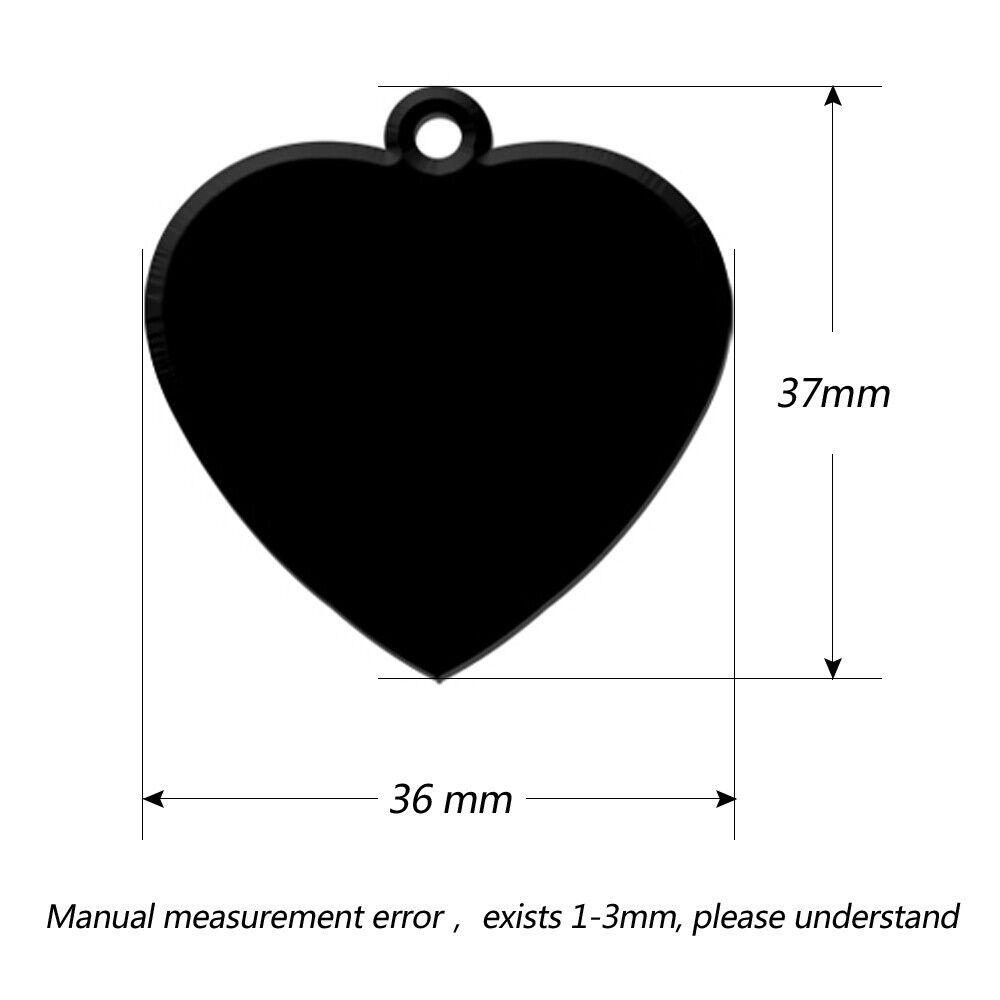 hight resolution of 100pcs blank heart shape dog pet cat id tags engraved phone address tag aluminum