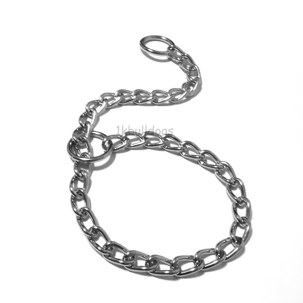 Chrome P Chock Metal Chain Training Dog Pet Collars