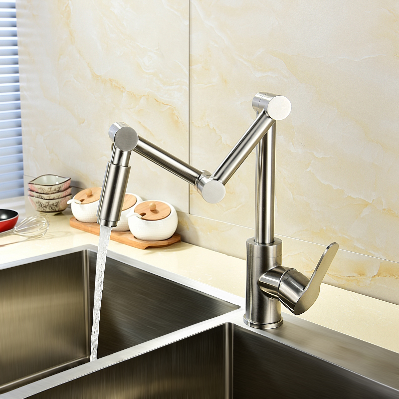 kitchen pot filler stainless steel island modern 1 handle one hole articulating details about faucet