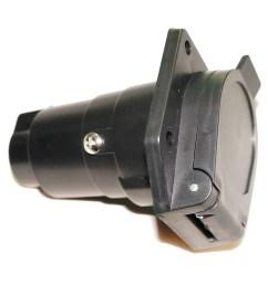 car auto trailer wiring adapter 7 pin way hole socket adapter plug light boats [ 1000 x 1000 Pixel ]