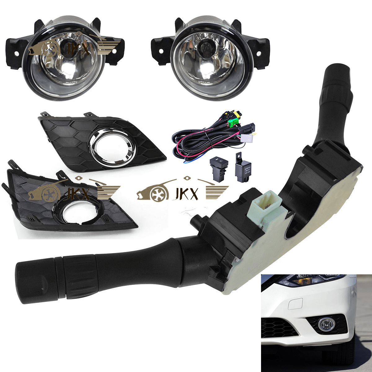 hight resolution of details about for nissan sentra sylphy 2016 2019 fog lights wiring harness switch kit 6pcs