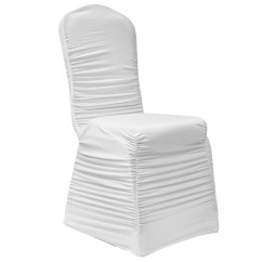 Ruched Chair Covers Used High 10 100 Fashion Cover Embossed Ruffled Wedding Event Dec