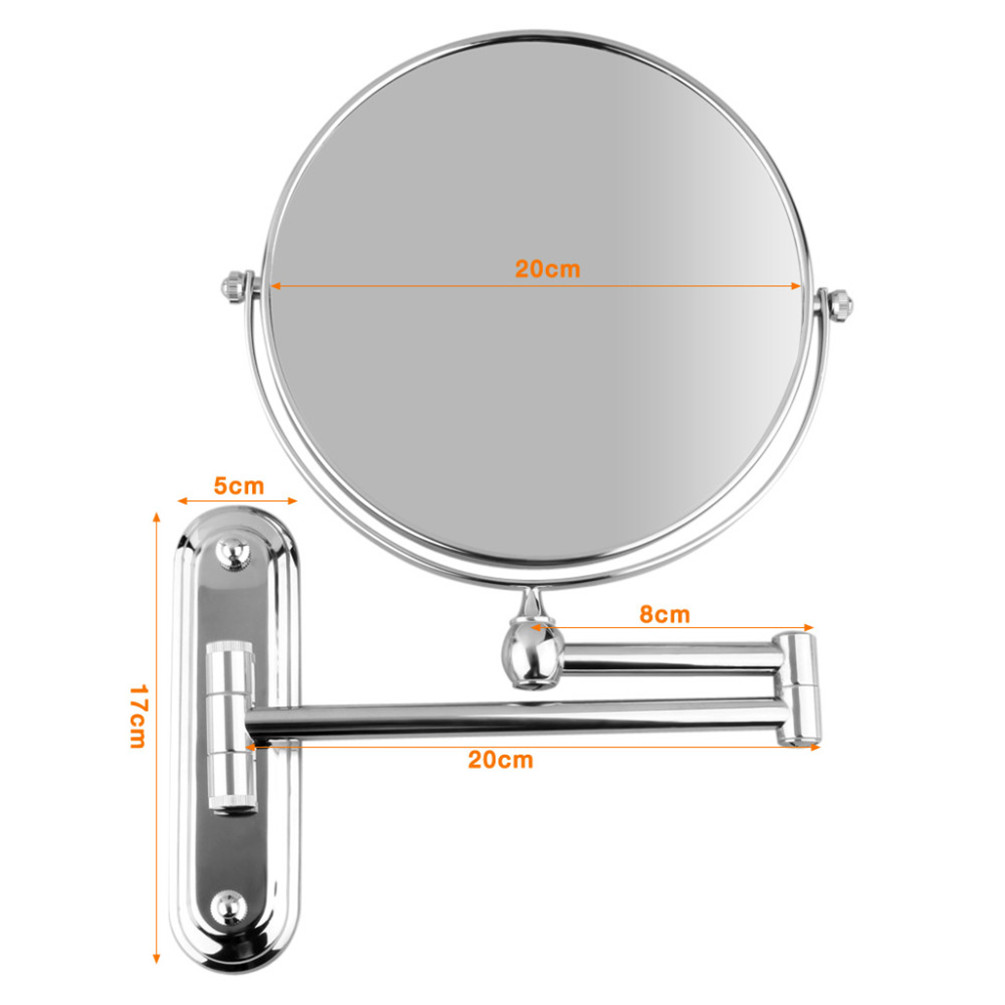 Double Sided Wall Mount 110x Magnifying Cosmetic Shaving