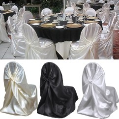 Universal Wedding Chair Covers Feminine Executive Office Chairs 100x Satin Event Cover For Folding Banquet Details About Dinning