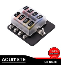details about 8 way blade fuse box block holder terminal circuit for universal car boat marine [ 1001 x 1001 Pixel ]
