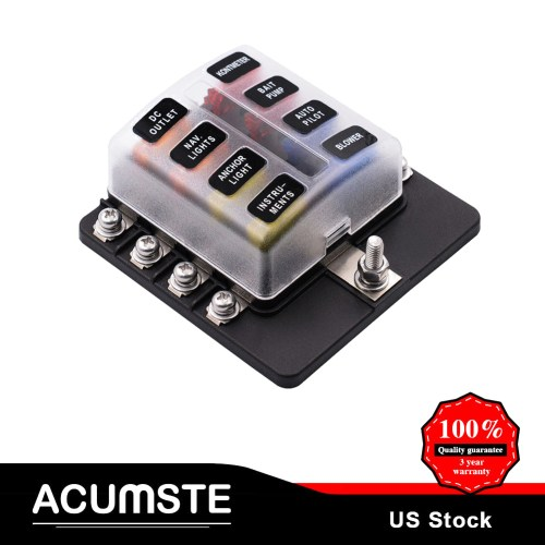 small resolution of details about 8 way blade fuse box block holder terminal circuit for universal car boat marine