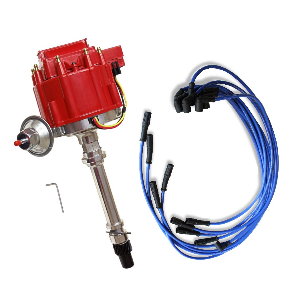 medium resolution of details about v8 s hei coil distributor for sbc bbc 305 350 454 and 9 5 mm spark plug wires