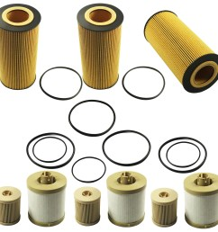 details about set of 6 fuel oil filter replacement fd4616 fl2016 for ford 6 0l diesel turbo [ 2835 x 2835 Pixel ]
