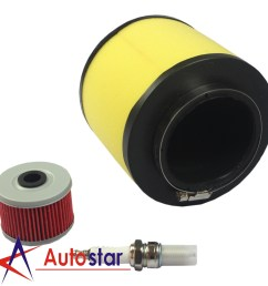 air filter fuel oil filter with spark plug for honda foreman 400 450 rancher 350 [ 1600 x 1600 Pixel ]