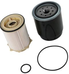 diesel fuel filter kit for 2013 2017 dodge ram 6 7l cummins 2500 3500 4500 5500 [ 1600 x 1600 Pixel ]
