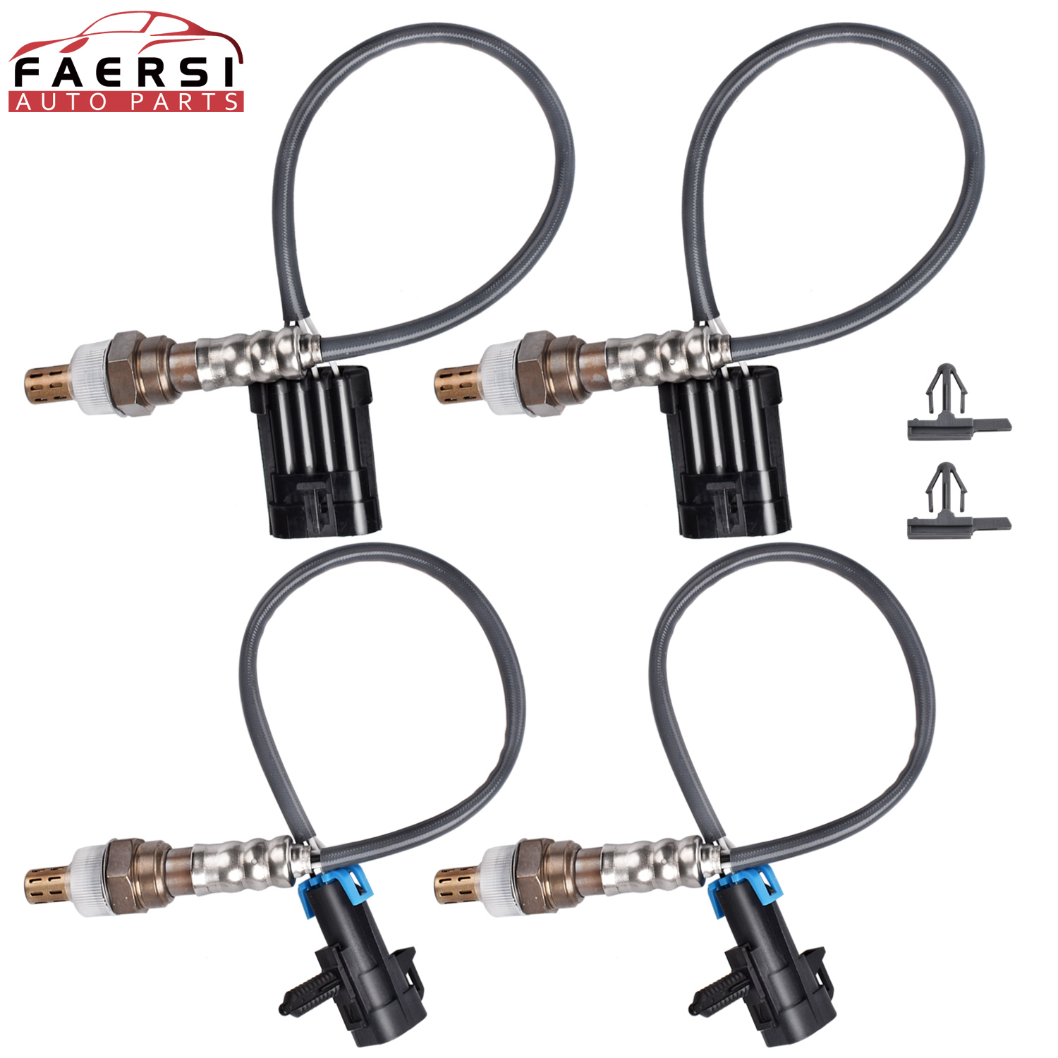 4pcs Upstream & Downstream O2 Oxygen Sensor Set for Chevy