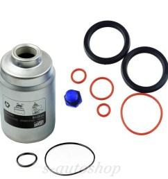 details about new diesel fuel filter tp3018 primer seal kit billet bleeder screw for duramax [ 1000 x 1000 Pixel ]
