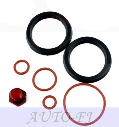 for duramax fuel filter head rebuild seal kit with viton o rings bleeder screw [ 1000 x 1000 Pixel ]