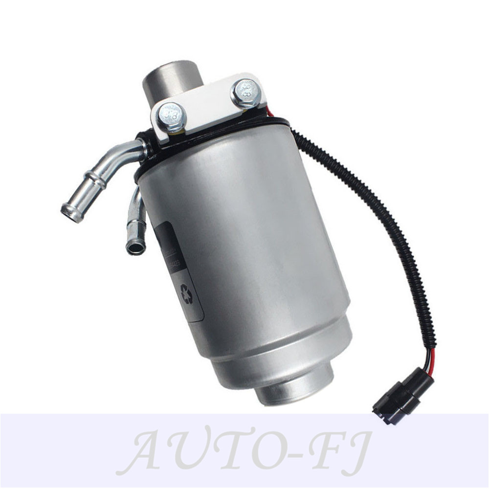 hight resolution of fuel filter with heater 12642623 2 bolts for gmc 2014 2013 duramax diesel engine