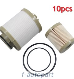 10 pcs for ford fuel filter diesel 6 0 f250 f350 f450 powerstroke fd4604 fd4616 [ 1000 x 1000 Pixel ]