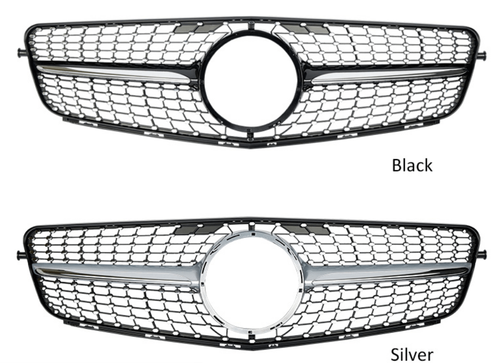 Silver Front Grille For Mercedes Benz C Class W204 C180