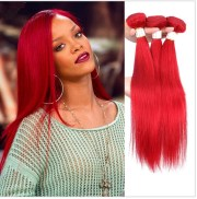 3 bundles red hair 100 brazilian