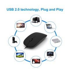wired usb optical mouse for pc laptop computer scroll wheel black uk [ 1000 x 1000 Pixel ]