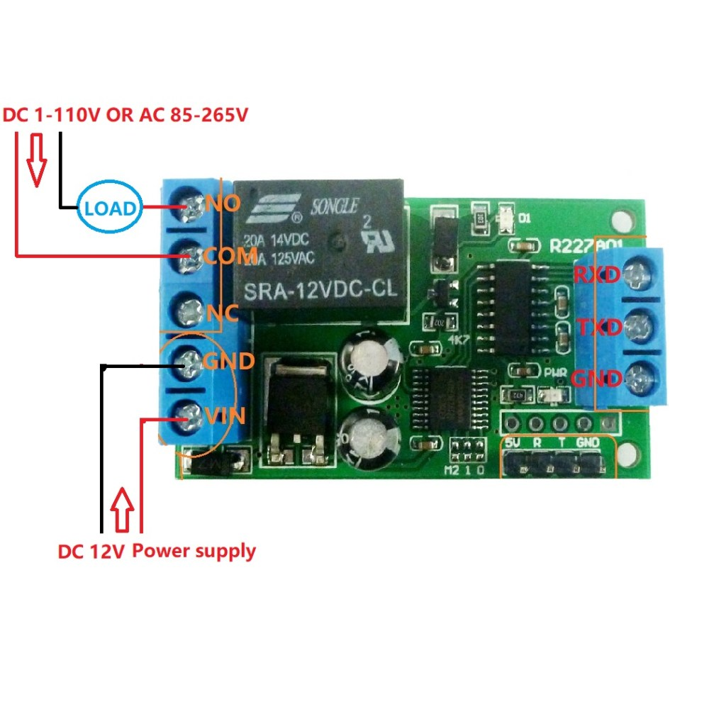medium resolution of 2 dc 1 48v or ac 85 265v control circuit wiring diagram below note if not dc 12v load need another dc 12v power supply load may be led lights fans