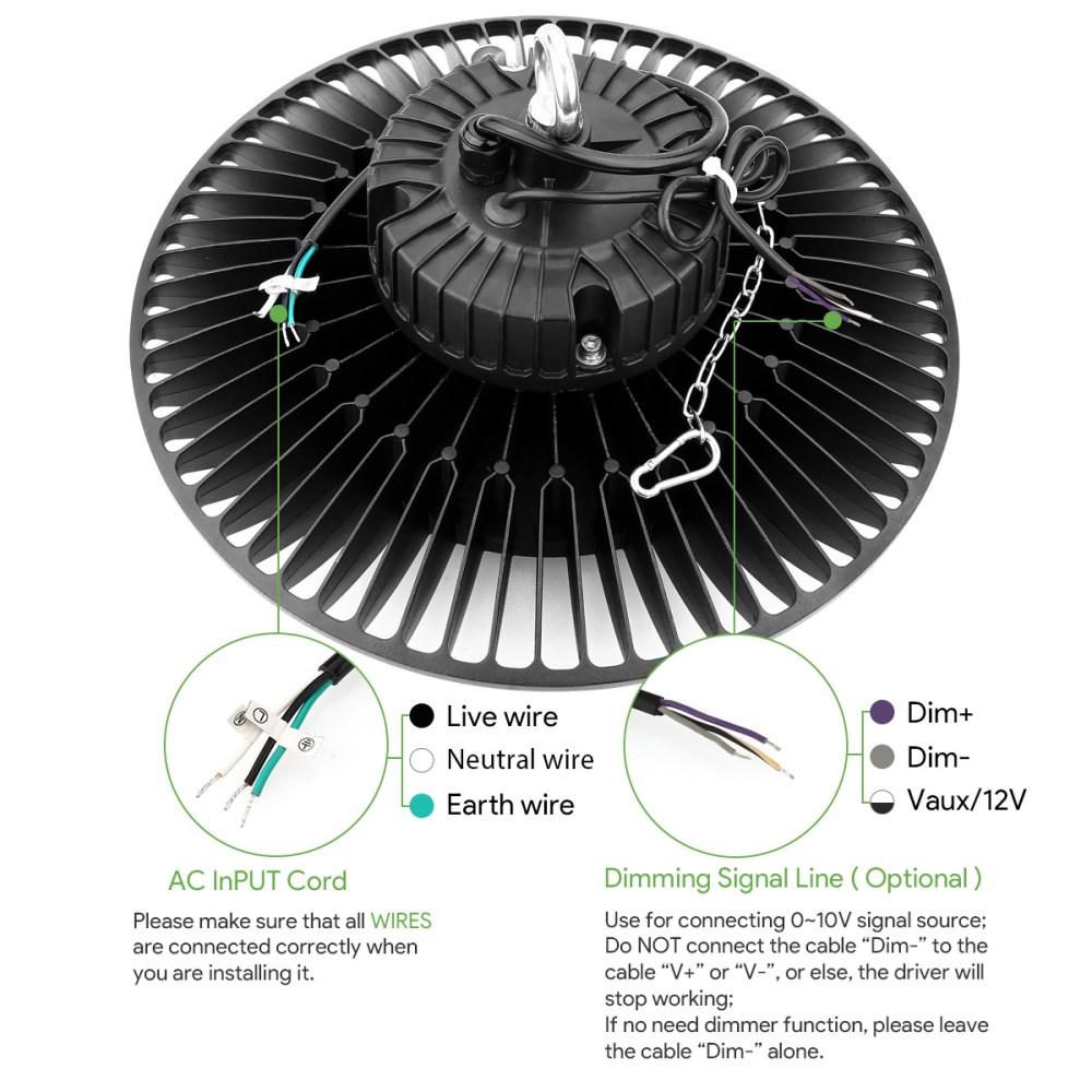 medium resolution of le 100w led high bay ufo light fixture replaced 200 watt metal halide lighting