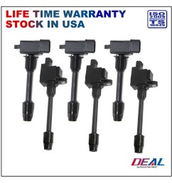details about 6pcs new rear front ignition coils for 00 01 nissan maxima infiniti i30 3 0l v6 [ 1800 x 1800 Pixel ]