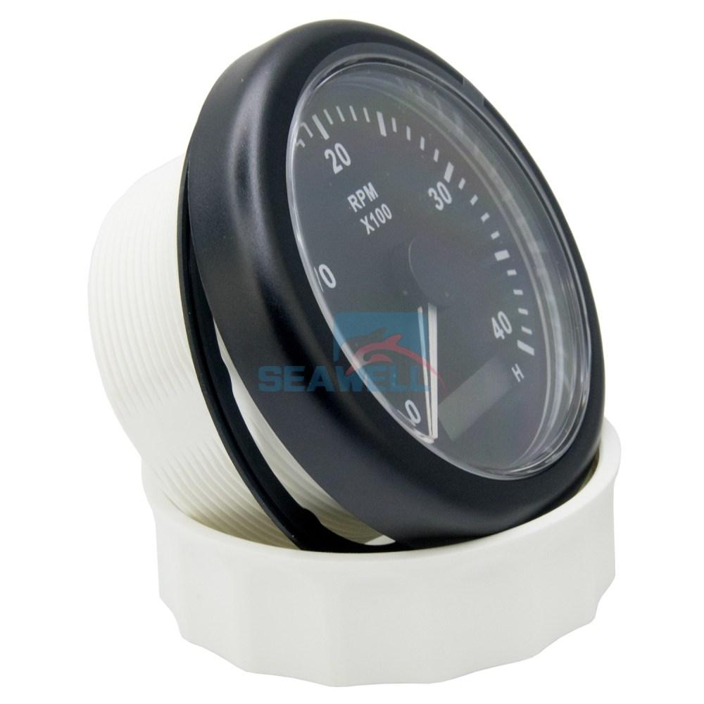 medium resolution of kus marine boat tachometer lcd hour meter tacho rpm gauge 12 24v 0 4000 85mm