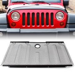 front grille insert 3d bug net 2 4 doors jeep wrangler 2007 2015 jk jku [ 1200 x 1200 Pixel ]